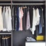 indeling moderne open garderobekast